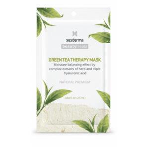 Sesderma Маска увлажняющая для лица Green tea therapy mask, 1 шт