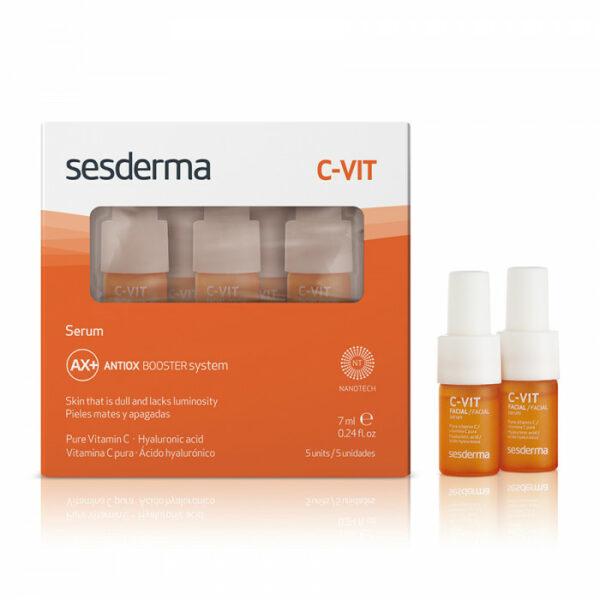Sesderma C-VIT Serum Antiox booster system Cыворотка антиоксидантная реактивирующая с витамином C, 7 мл х 5 шт