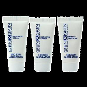 Ericson Laboratoire Genxskin Mini-kit Мини-набор генактивной косметики для омоложения кожи лица, 10 мл + 10 мл + 10 мл