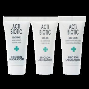 Ericson Laboratoire Mini-kit Acti-Biotic Мини-набор для решения проблем жирной кожи, 10 мл + 10 мл + 10 мл