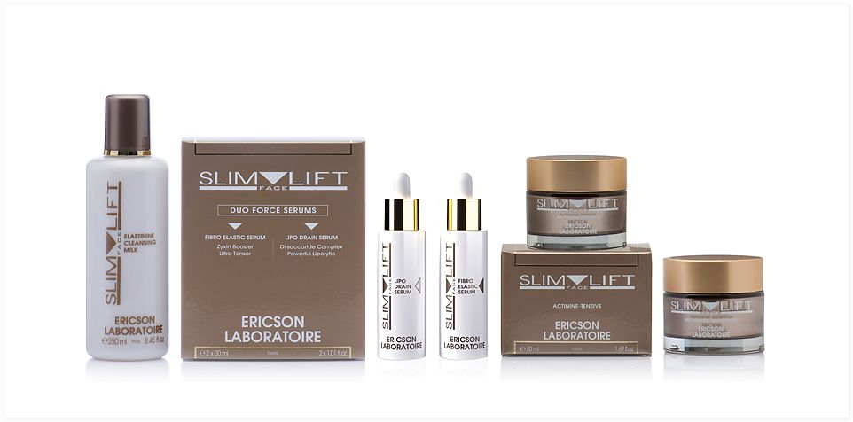Ericson Laboratoire Slim Face Lift Mini-kit Мини-набор для восстановления овала лица, 10 мл + 5 мл + 5 мл