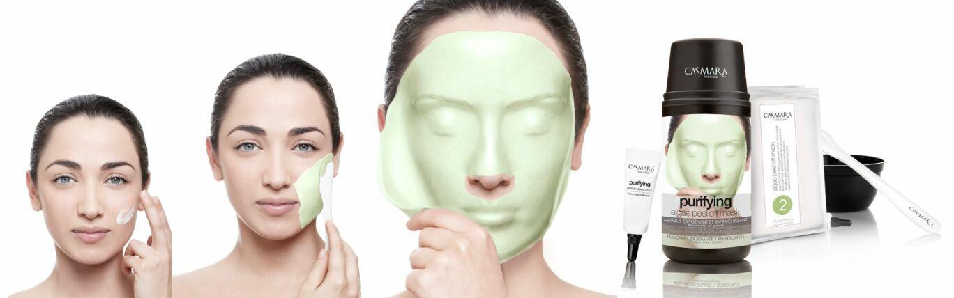 Casmara Antioxidant algae peel-off mask - Касмара альгинатная маска Антиоксидантный, крем 4 мл + гель 82 мл + порошок 32 гр