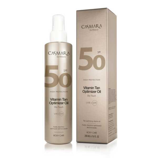 Casmara Vitamin tan optimizer oil SPF50 - Касмара Защитное масло с витаминами для тела СЗФ50, 200 мл спрей