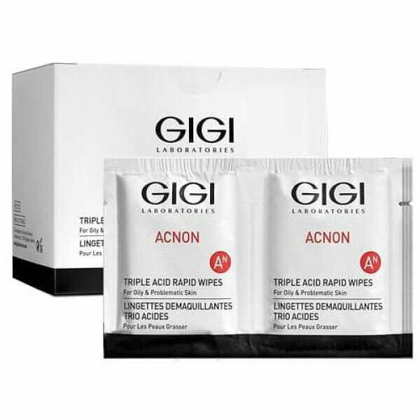 GIGI ACNON Triple acid rapid wipes Салфетки влажные Акнон очищающие с кислотами, 30 шт.
