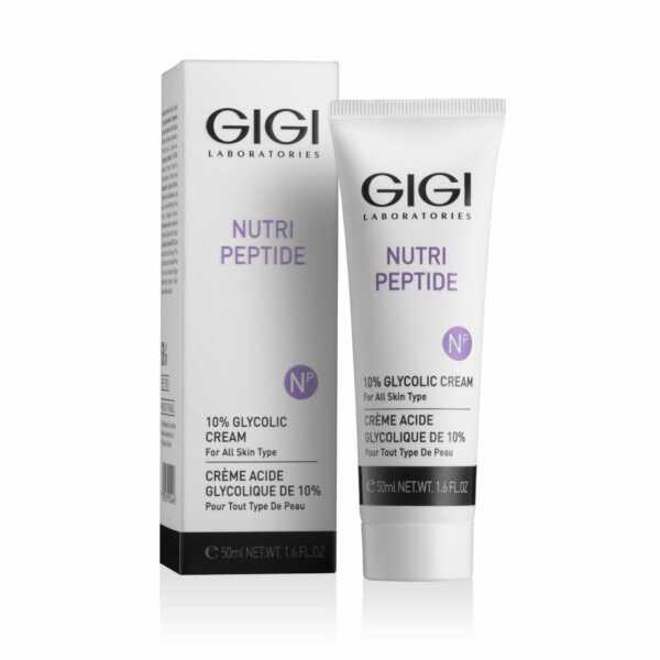 GIGI NUTRI-PEPTIDE Glycolic cream Крем с 10% гликолевой кислотой, 50 мл