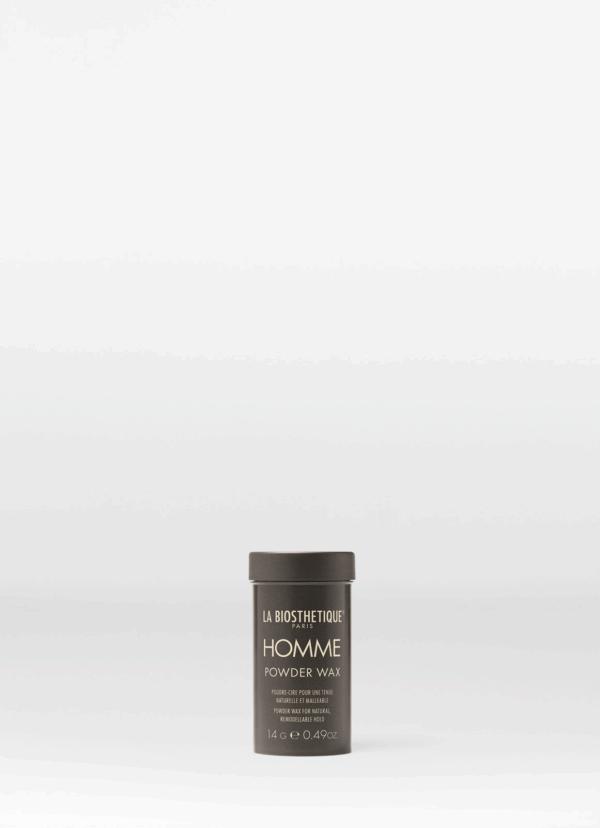 La Biosthetique Homme Powder Wax Моделирующая паста-тянучка для волос с атласным блеском, 14 г