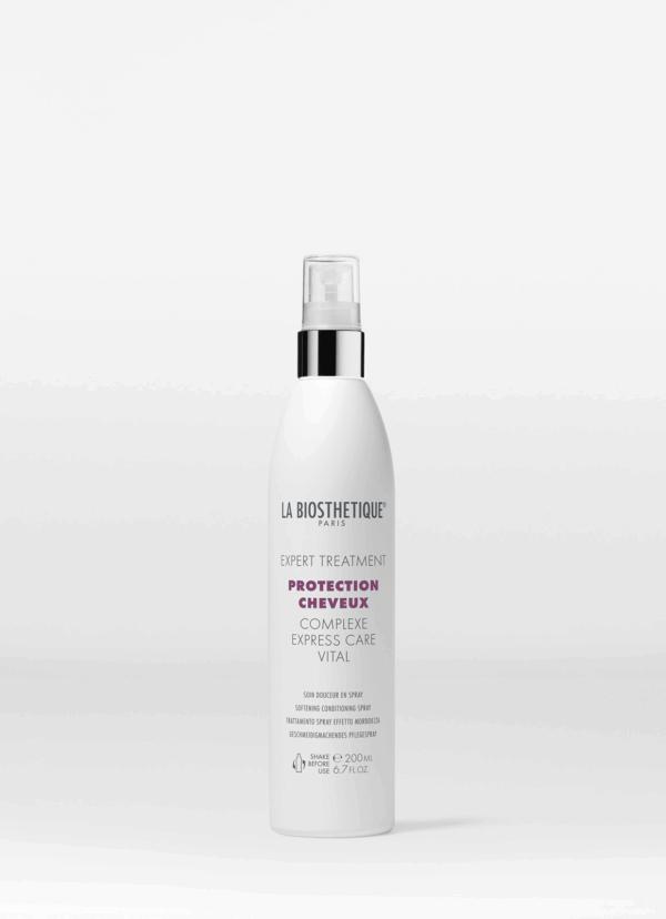 La Biosthetique Protection Cheveux Complexe Express Care Vital Реструктурирующий спрей мгновенного действия с молекулярным защитным комплексом для поврежденных волос, 200 мл