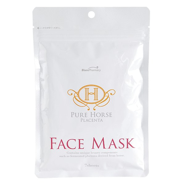 La Mente Fair Lady Pure Horse Placenta Face Mask Восстанавливающая плацентарная маска «Pure Horse», 7 шт